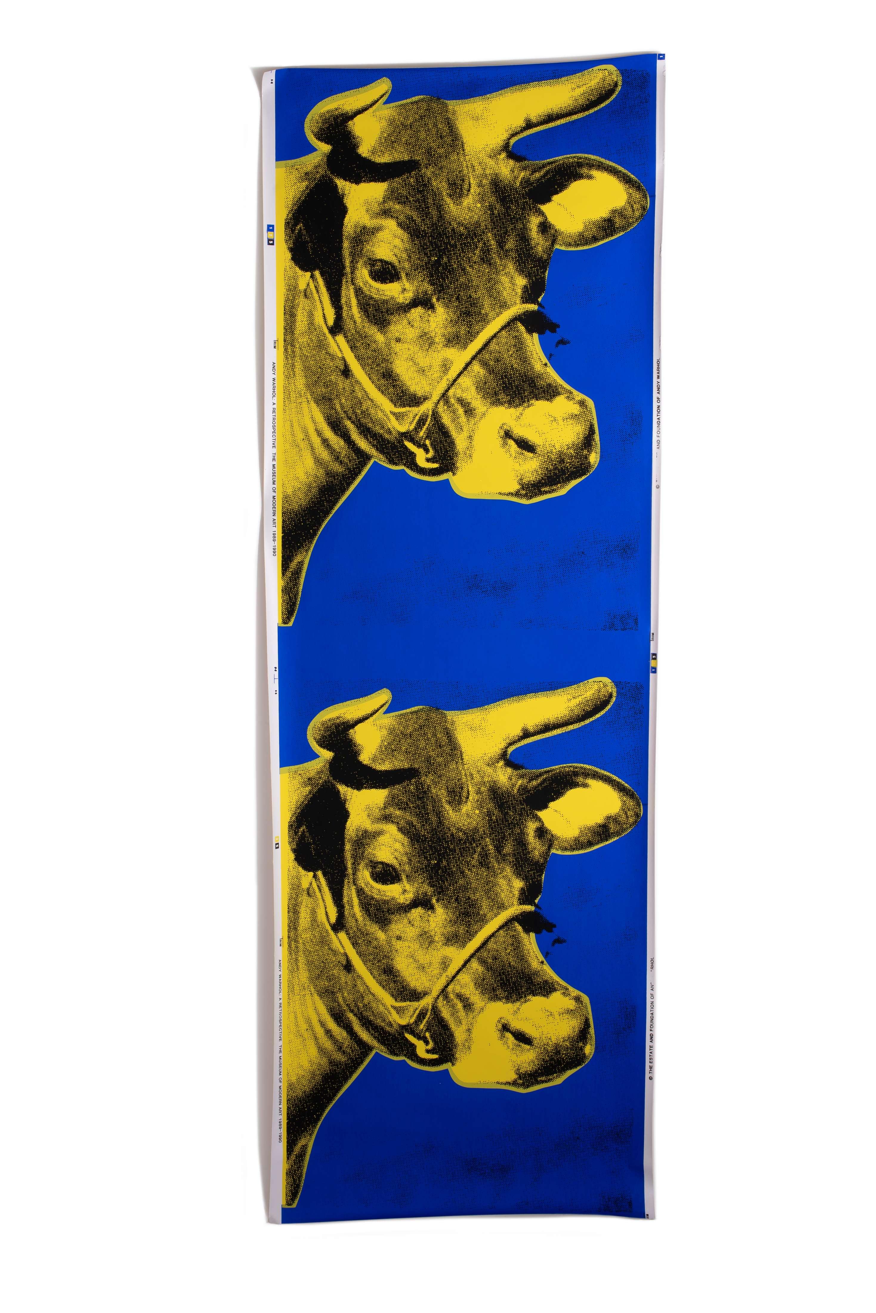 アンディ ウォーホル 壁紙にシルクスクリーン Double Cow